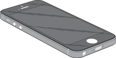 iPhone5の登録意匠  ※IPDLより引用