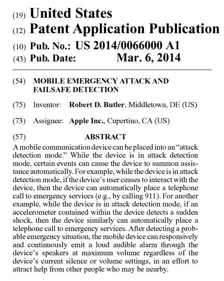 アップルによるアプリ特許の米国特許出願