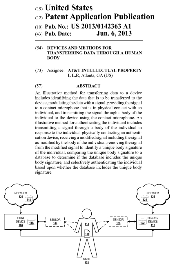 AT&Tの米国特許出願