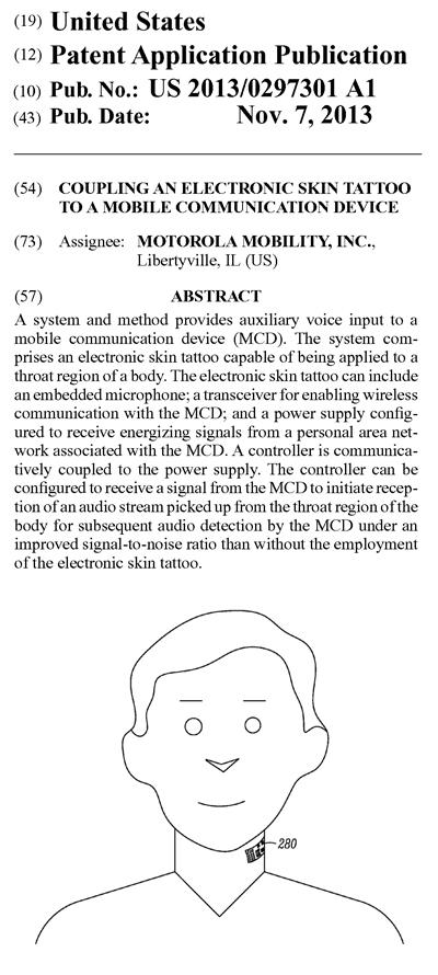 モトローラの米国特許出願