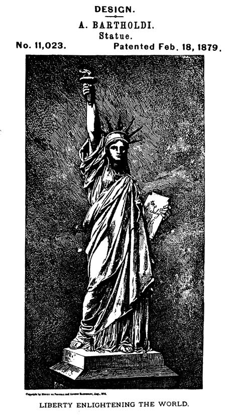 自由の女神に関する米国デザイン特許