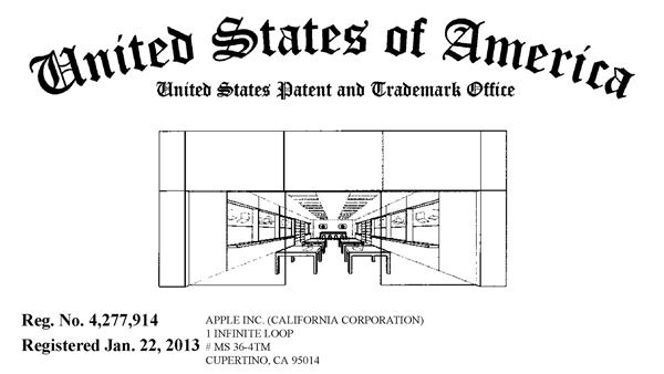『Apple Store』の米国登録商標(No.4277914)