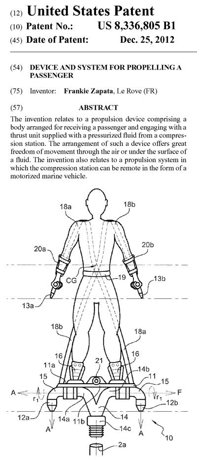 『Flyboard』の米国特許権
