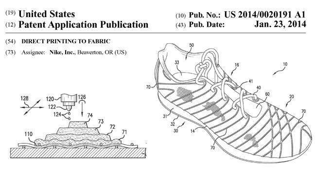 NIKE社の米国特許出願