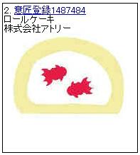 ロールケーキの意匠権