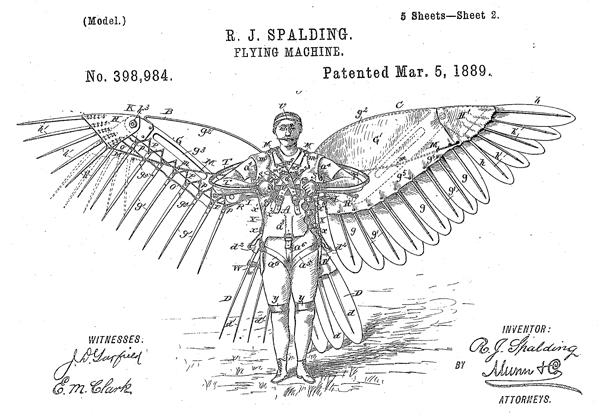 1889年に登録された米国特許権
