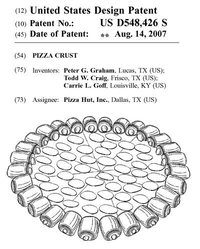 Pizza Hut のデザイン・パテント(米国意匠権)