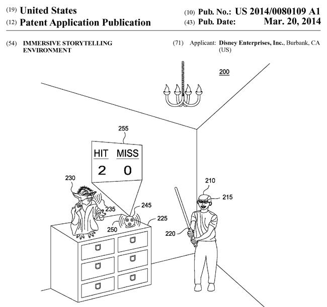 ディズニーの米国特許出願