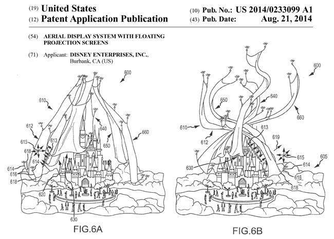 ディズニー・エンタープライズの米国特許出願