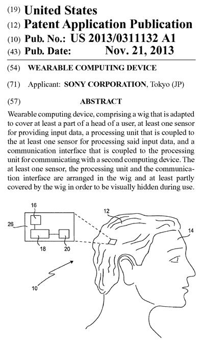 ソニーの米国特許出願