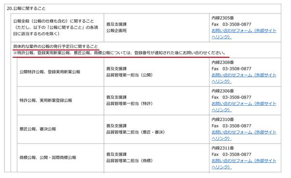 お問い合わせ先一覧 _ 経済産業省 特許庁