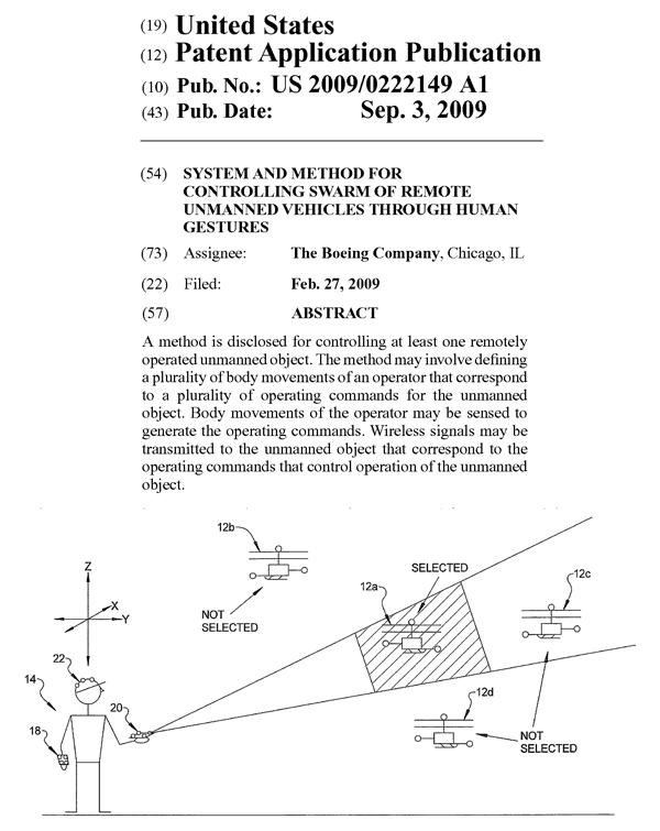ボーイングの米国特許出願