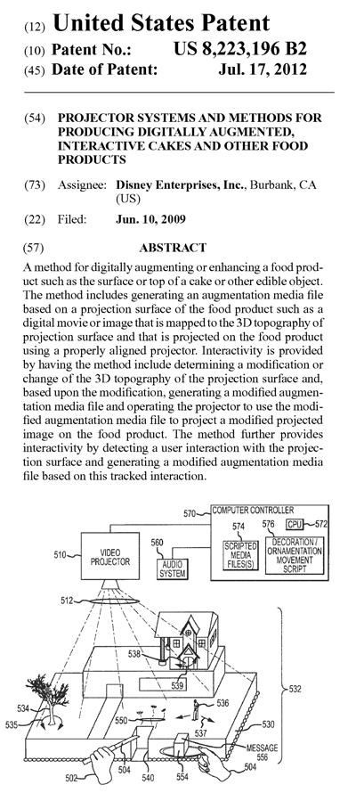 ディズニーの米国特許